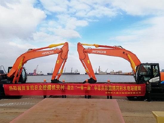 """助力""""一帶一路""""日立建機ZX300-5A投身中非博阿利水電站建設"""