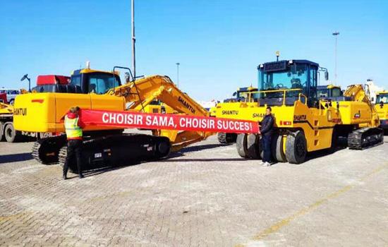 山推一体化施工设备首发北非市场