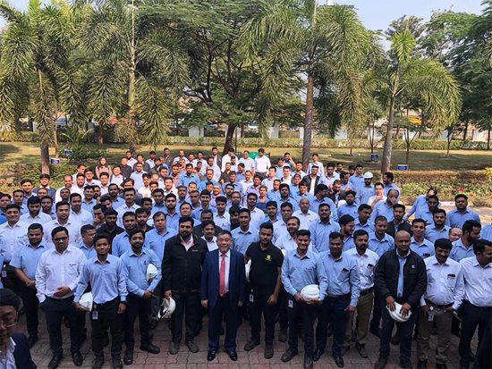 柳工參展第十屆印度EXCON機械展 閃亮全場