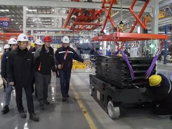 廣西柳工股份機械有限公司副總裁金利文先生一行視察安徽柳工