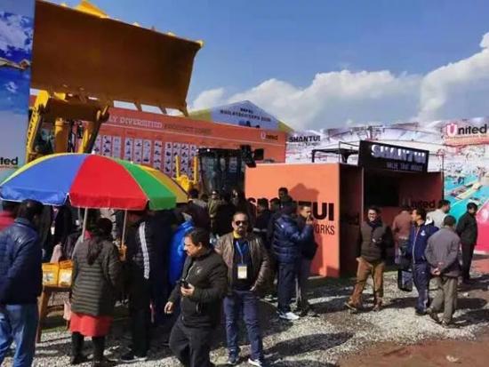 山推产品重磅亮相尼泊尔BUILDTECH EXPO 2020展会