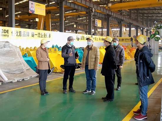 济宁市领导莅临铭德机械调研复工复产工作