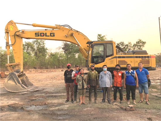 零的突破!临工E6400F挖掘机成功登陆老挝