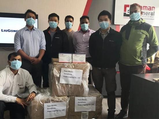 柳工首批约150000只口罩飞抵37个国家