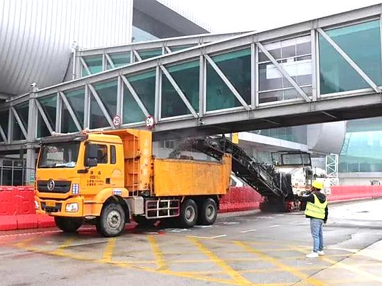 维特根铣刨机助力白云机场不停航施工项目正式复工