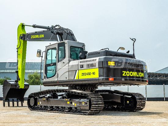 中联ZE215E-10挖掘机左右回转均无动作?这篇手册给你答案
