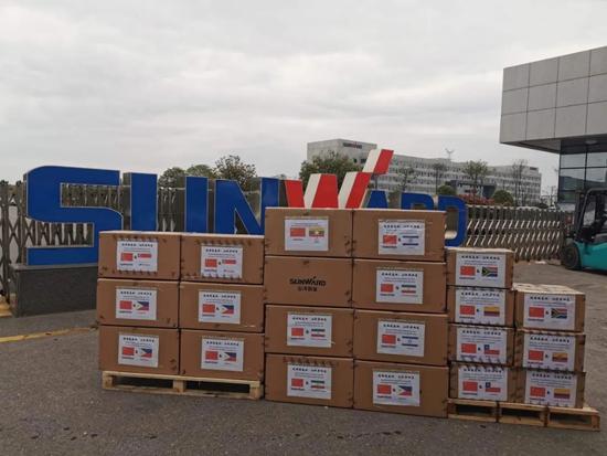 山河智能首批2万个口罩援助海外