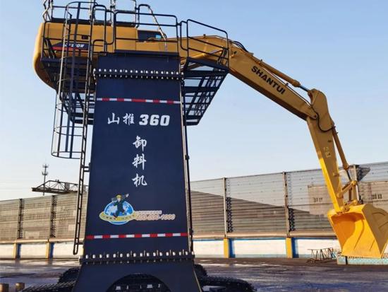 """山推SE210W""""大长腿""""卸料机惊艳河北"""