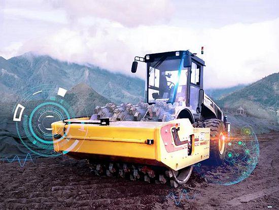 未来已来!三一无人压路机施工集群助力中电建雄安新区防洪建设