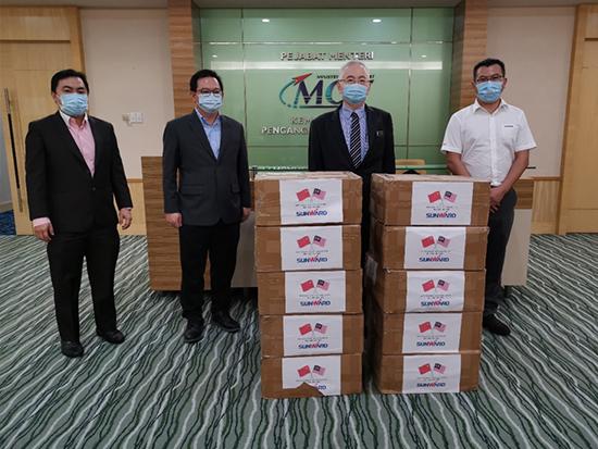 山沃国际工程公司向马来西亚交通部捐赠防疫口罩