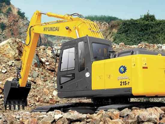 现代R215-7挖掘机6大优势,让你爱上它!