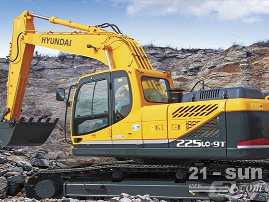 现代重工20吨级主打挖掘机产品——现代R225LC-9T挖掘机!