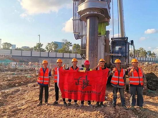 中联ZR460旋挖机助力重庆正旋集团前海综合交通枢纽项目开工