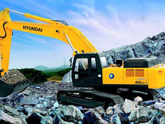 现代R455LC-7挖掘机大泵有异响怎么办?