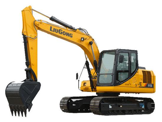 铁路建设好帮手,柳工915E挖掘机