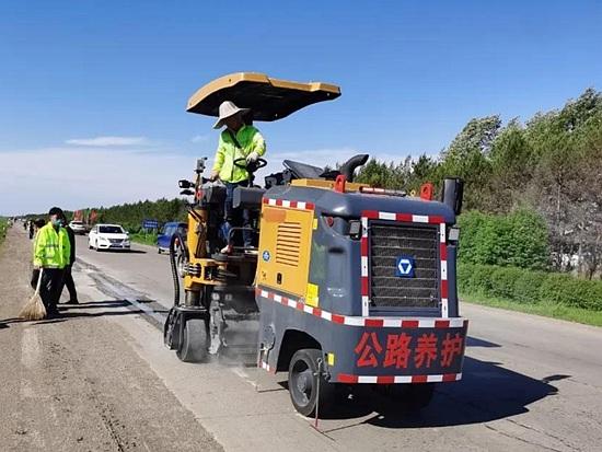 嵌入式交通标线,小型铣刨机致富新方法!