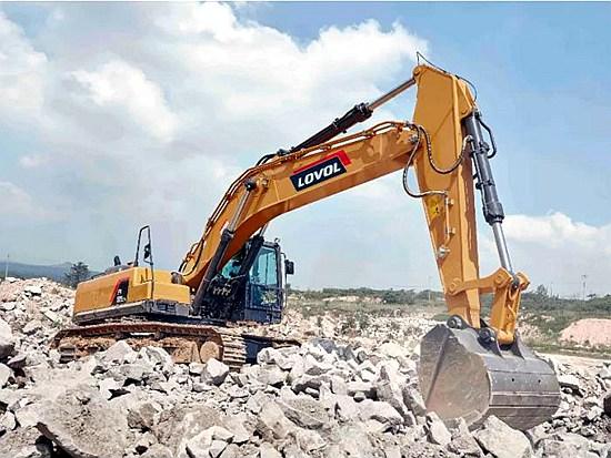 雷沃FR510E2-H挖掘机 矿山工况的制胜法宝