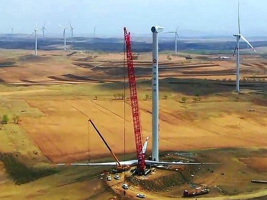 三一SCC4000A起重机风电检修施工案例