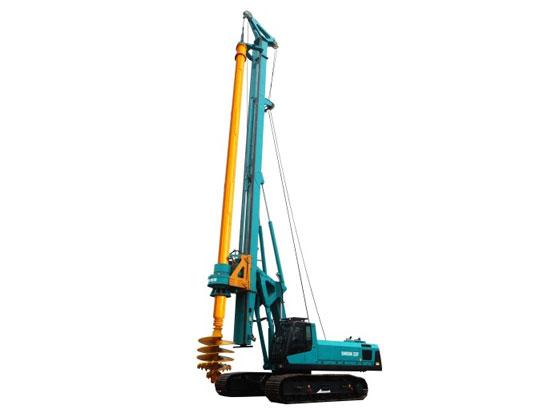 山河智能SWDM220旋挖钻机工作中卡钻的原因及解决的方