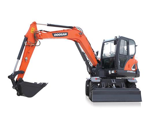 小巧、便利、工作给力:斗山DX60W-9C轮式挖掘机!