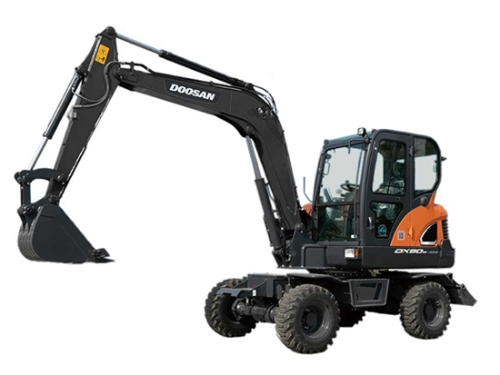 助力客户轻松起步;斗山DX60W ECO轮式挖掘机