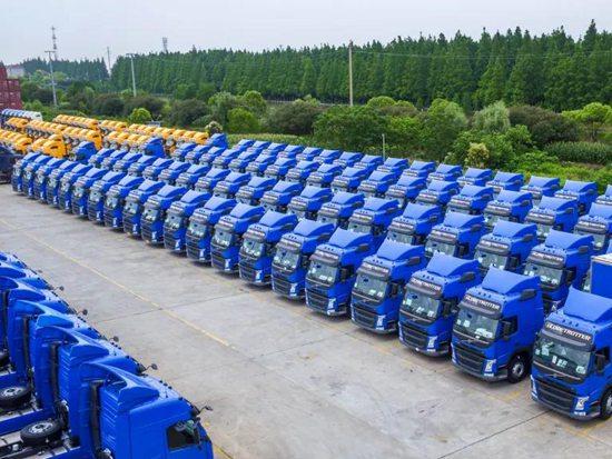 德邦快递3.5亿购450辆沃尔沃卡车,大件运力提升12%