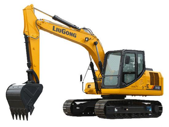 柳工915E挖掘机出现回转无力是什么原因?