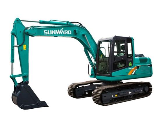 山河智能SWE100E履带挖掘机大臂出现这些故障,如何解