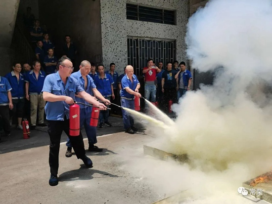 常柴:开展消防应急演练 营造安全生产环境