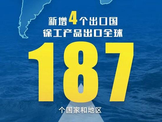 """出口全球187个国家和地区 """"徐工金""""光芒四射"""
