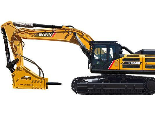 三一SY550H挖掘机:矿山重载作业的利器