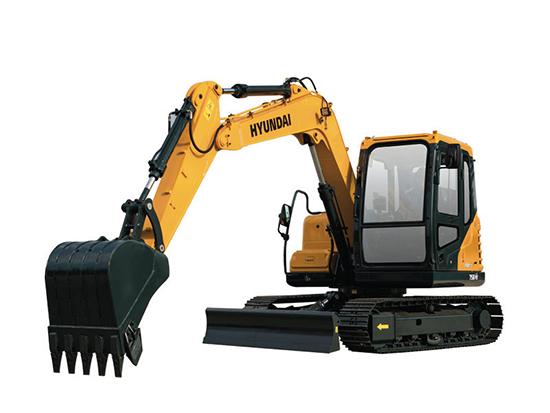 性价比更高的小挖:现代R75BVS挖掘机