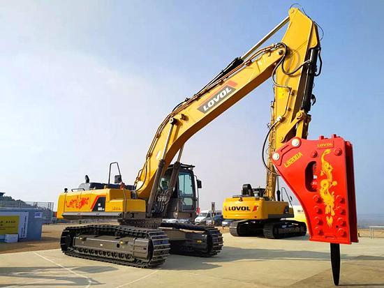 雷沃FR560E2-HD挖掘机|为矿山破碎而生
