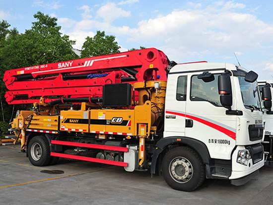 三一SYM5180THBES 30C-8混凝土泵车:安全可靠 施工效率高