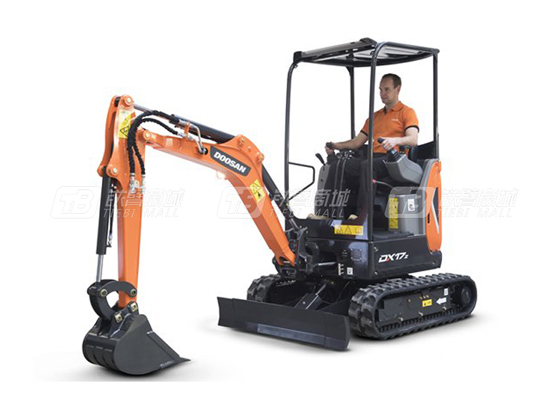 斗山DX17Z挖掘机,小设备,表现不凡