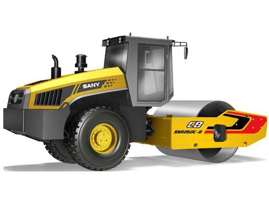 三一SSR260C-8双驱单钢轮压路机:激振力强 施工效率高