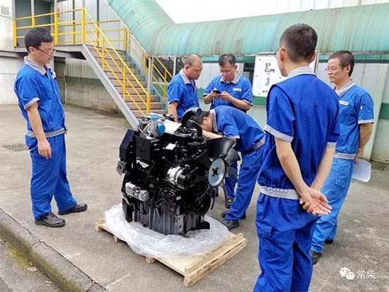常柴配套大马力轮拖用柴油机顺利完成装试