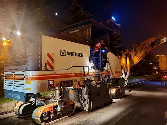 72小时争分夺秒 维特根集团路面设备会战岳麓大道提质改造工程