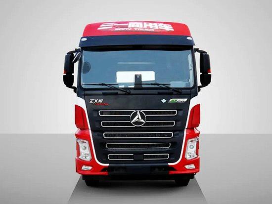 一组靓图带你解读三一重卡首款国六燃气牵引车正义版400N,品质看得见!