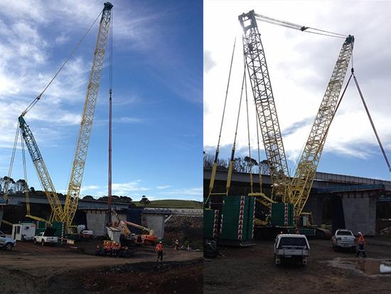 三一重工履带吊SCC4000参与Brisbane桥梁施工项目