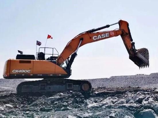 实力不凡的凯斯CX490C挖掘机,力大敢称王