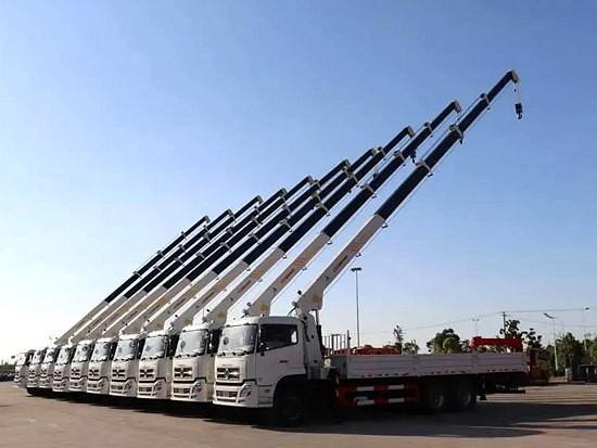 进驻土库曼斯坦市场!三一帕尔菲格随车起重机批量发车