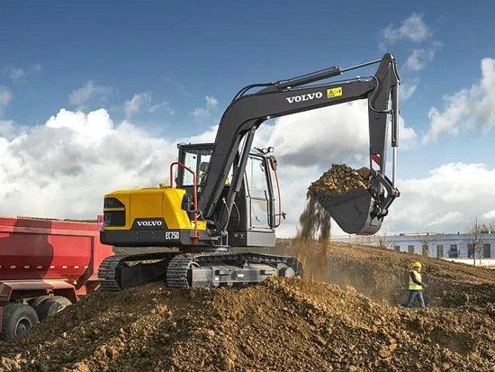 沃尔沃EC75D,全国职业技能大赛官方唯一指定挖掘机
