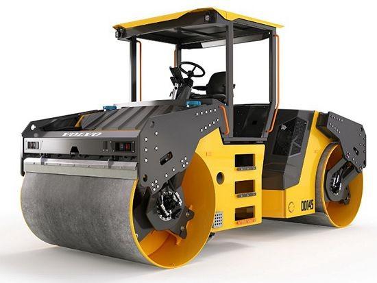 沃尔沃14吨DD145重型双钢轮振动压路机 专为中国市场量身定制