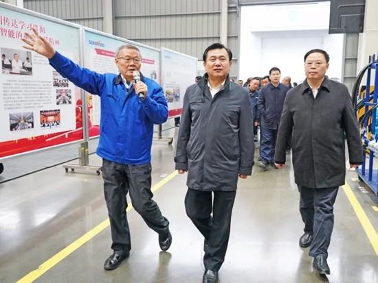 中国民航局局长冯正霖一行到山河智能调研指导