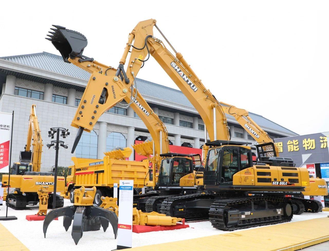自主产品耀世而来 山重建机5款新品挖掘机发布的背后