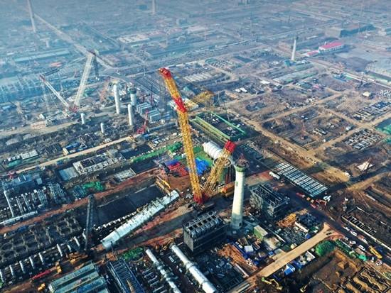 全球唯一!徐工第三台4000吨履带起重机首吊!