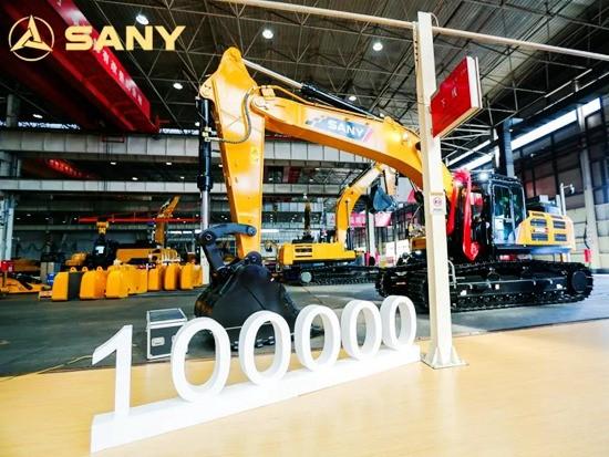 高产!三一2020年第十万台挖机来了