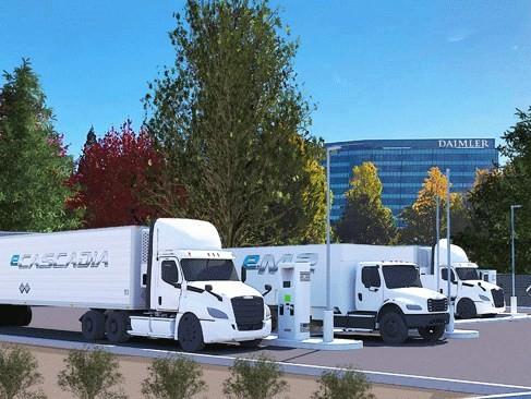 戴姆勒与波特兰通用电气合作开发商用车充电站
