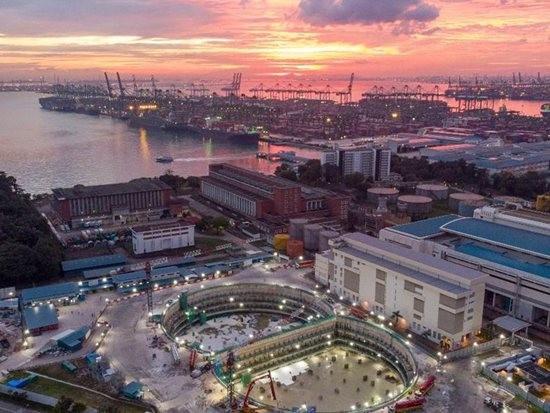 新加坡最大规模的连续混凝土浇筑作业